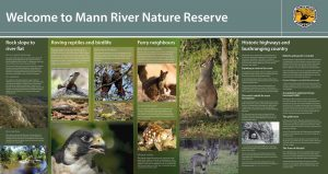 Mann River Information Signs