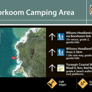Boorkoom Camping Area trackhead sign