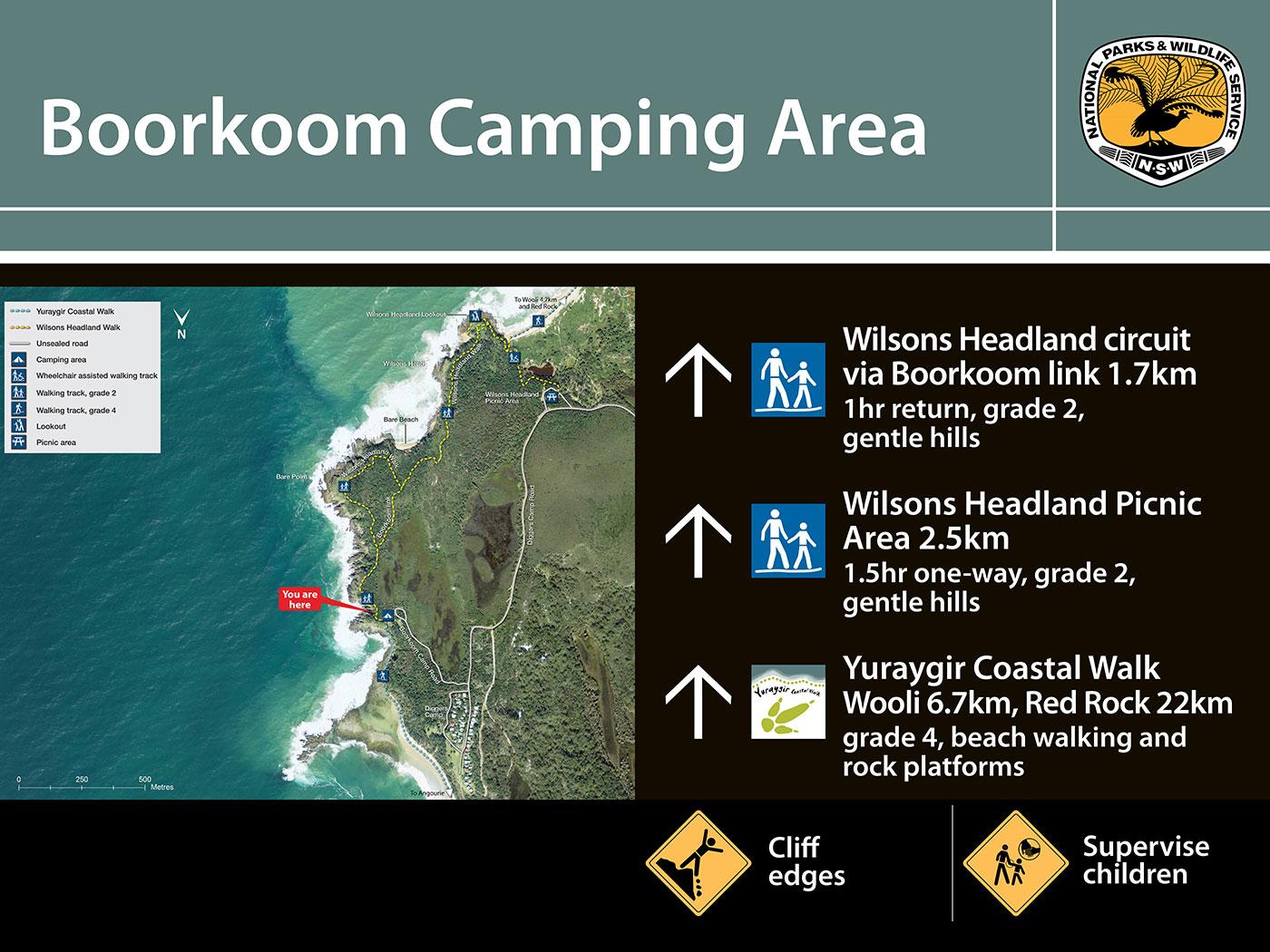 Boorkoom Camping Area trackhead sign
