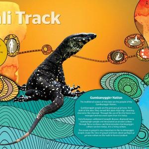 Gumgali Track Aboriginal Graphic Design