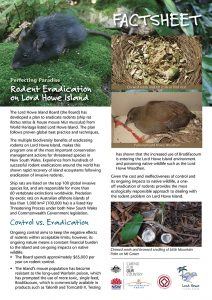 Rodent eradication - LHI Fact Sheet