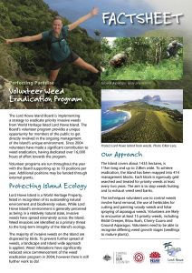 Volunteer Weed Eradication - LHI Fact Sheet