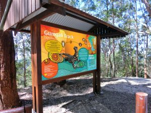Visitor orientation display- Gumgali Track