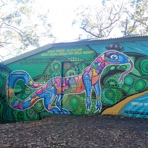 Korora Lookout - interpretive wall art