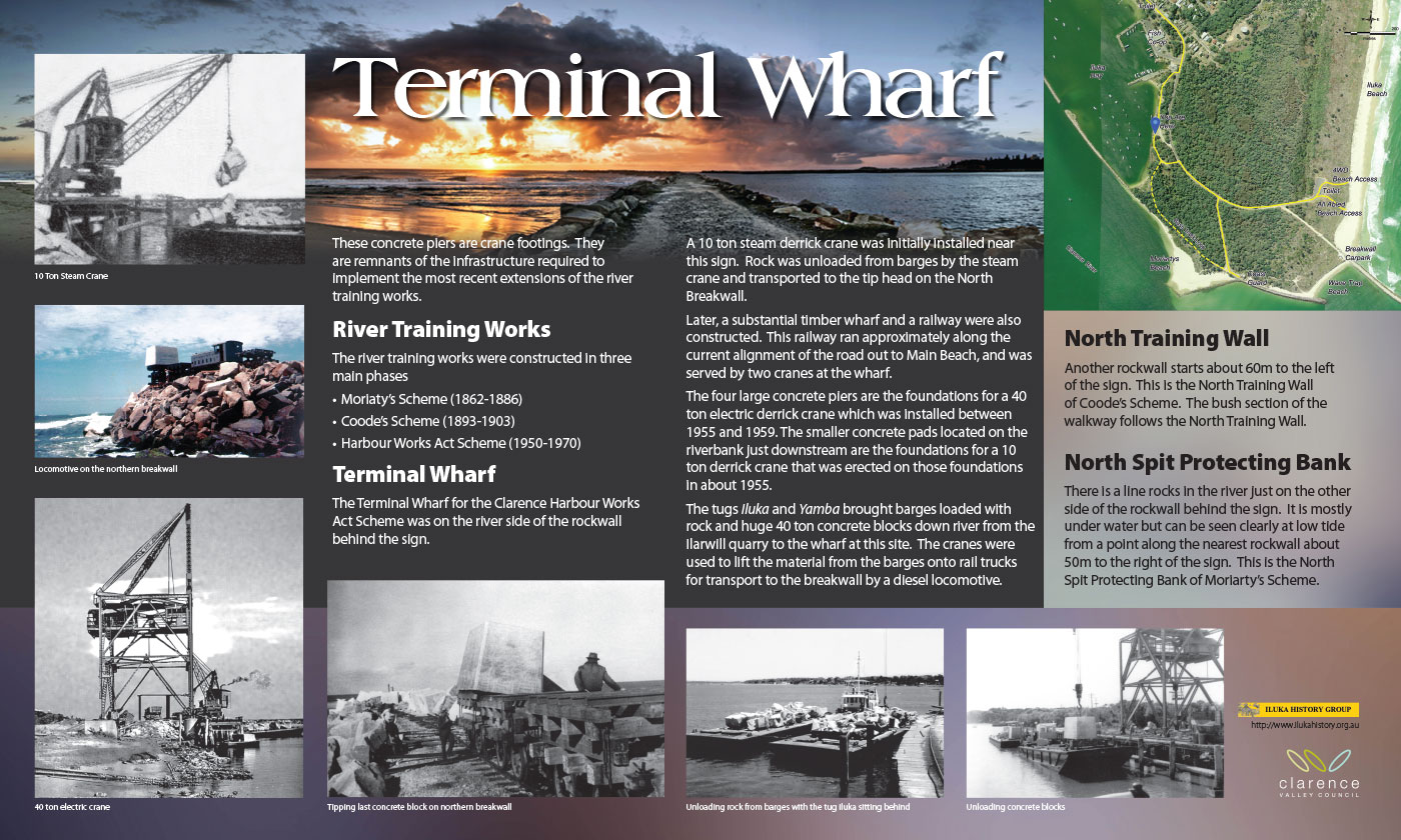 Iluka-Terminal Wharf-interpretive sign