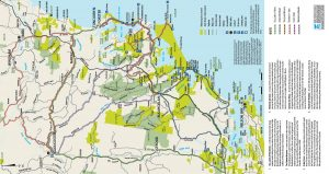 Great Lakes z-card map for trail bikes