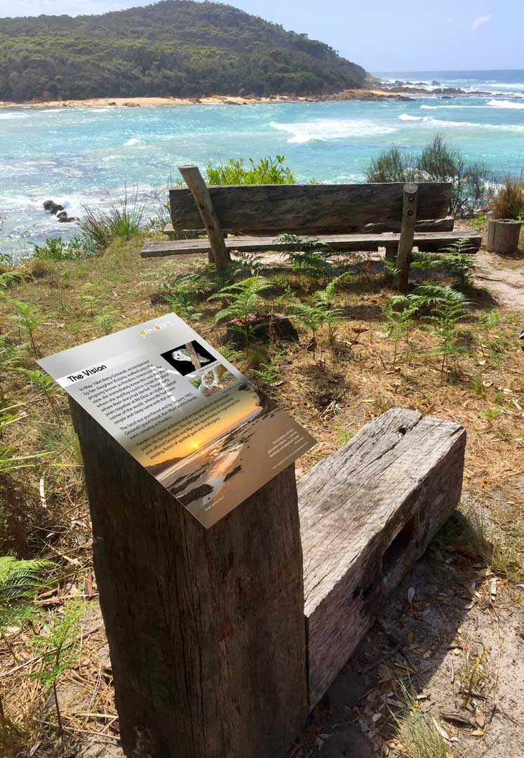 Penders installation - small interpretive sign