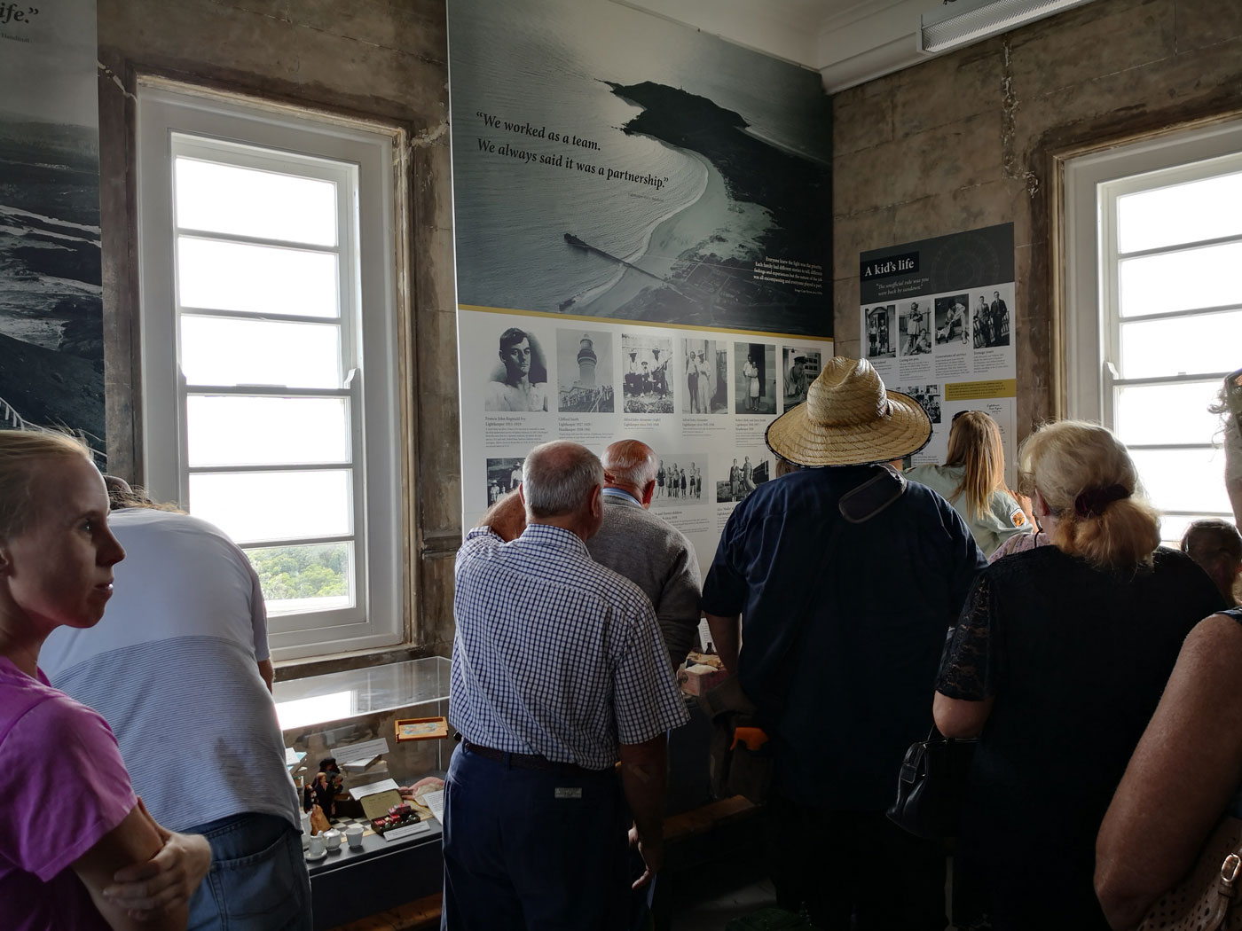 Visitors and exhibition space