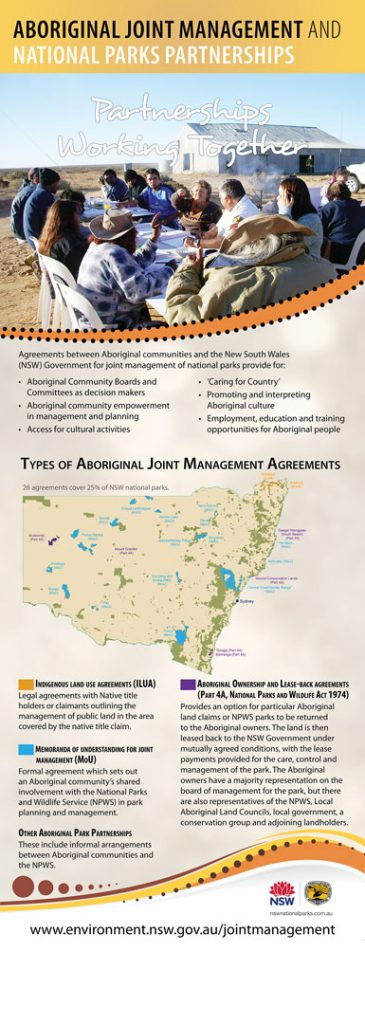 Aboriginal Joint Mgmt poster - partnerships