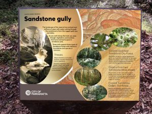 Sandstone environmental sign