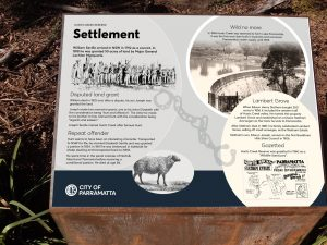 Cultural heritage interpretive sign
