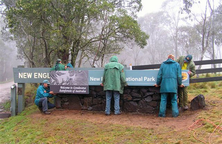 Gondwana Rainforest Park Entry installation