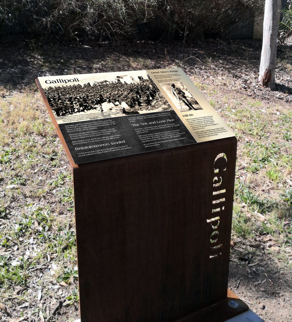Gallipoli WW1 interpretive signage