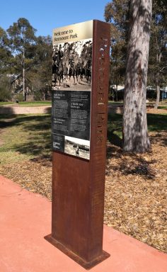 WW1 Interpretive Signage, Remount Park