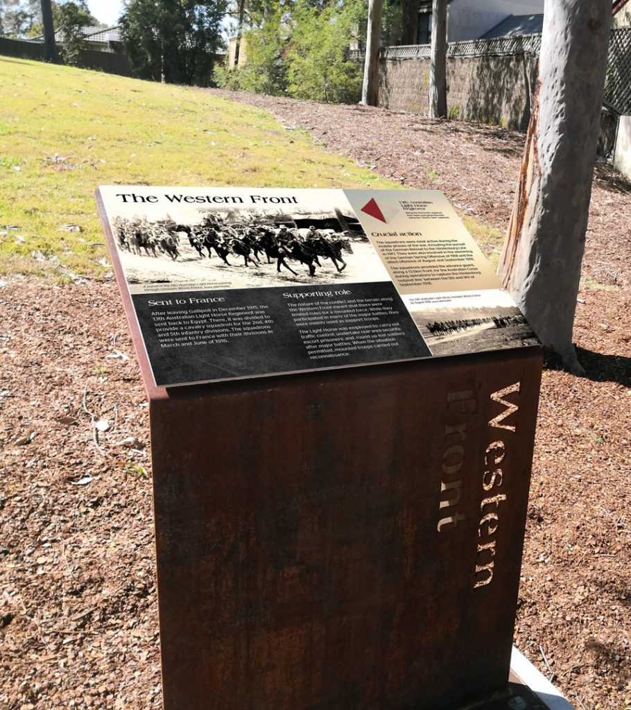 Western Front interpretive signage