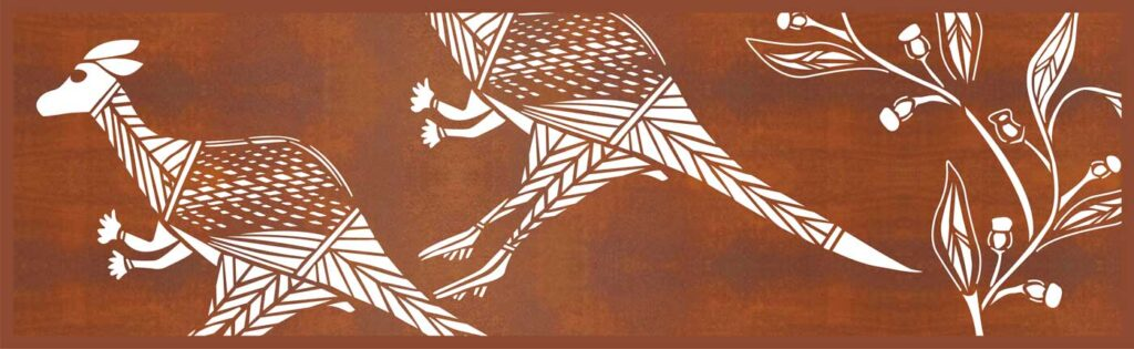 Corten Kangaroo panel